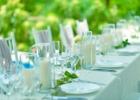 プールサイド・ウェディングパーティー&披露宴 テーブル装飾一例