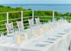 ルーフトップ・ウェディングパーティー&披露宴 テーブル装飾一例