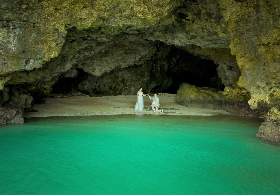青の洞窟ビーチ フォトウェディング