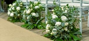 アイル・サイド装飾<br><br>生花装飾<br>ホワイト・グリーン・ピンク・レッド・他、選択可<br>