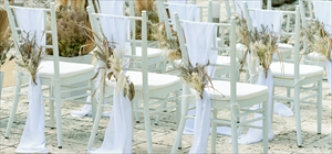 ティファニー・チェア装飾<br><br>アート・フラワー&サッシュ装飾<br>アイボリー・ゴールド・シルバー・レッド選択可<br>