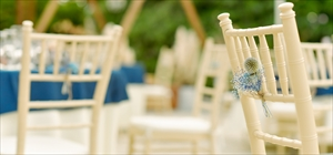 ティファニー・チェア装飾<br><br>アンティーク・フラワー<br>ホワイト・ブルー・レッド・イエロー・グリーン選択可<br>