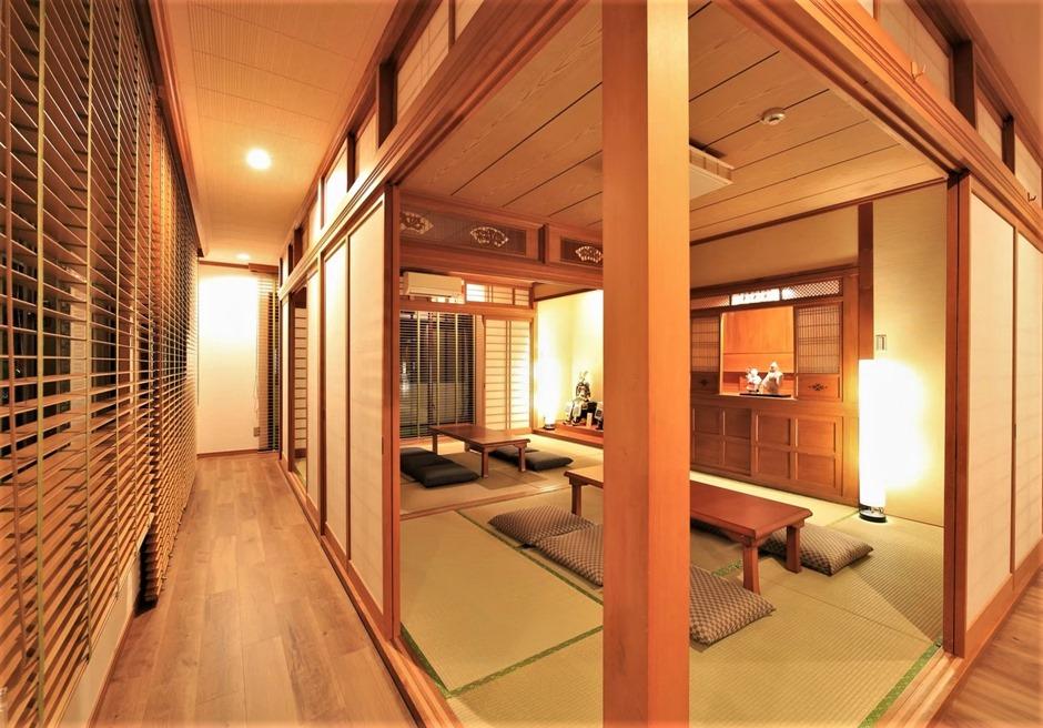 燦鐘苑 川平の宿/12畳の和室は最大布団4枚まで利用可能