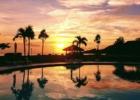 沖縄 石垣シーサイドホテル プールからのサンセット