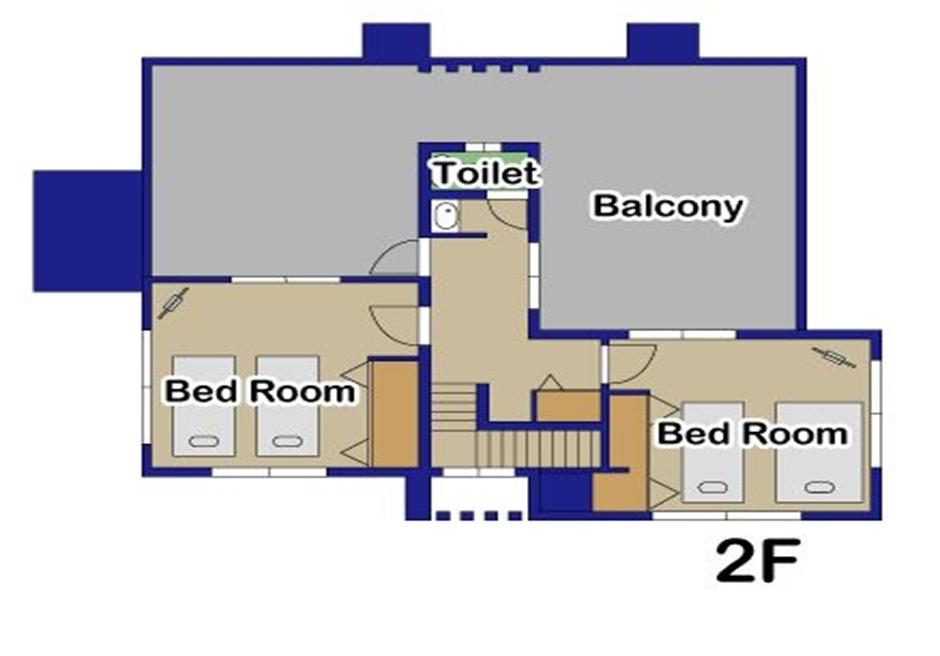リゾート・イン・ヤマバレ/ 2階フロアマップ