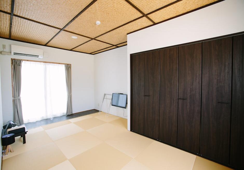 シエスタ・プライベート・プール・ヴィラ/和室には最大布団が4枚敷くことが可能です