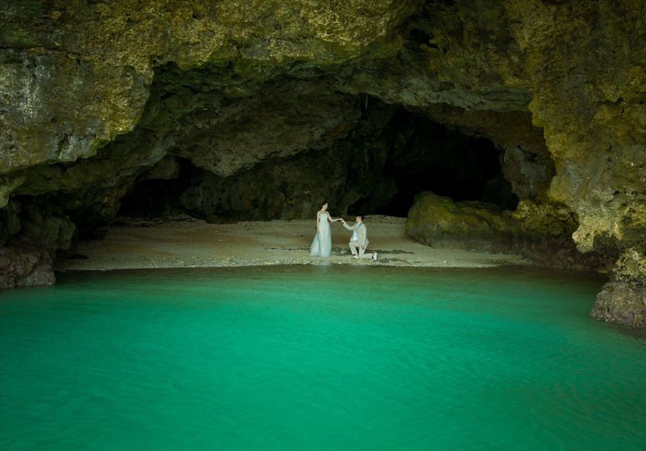 石垣島フォトウェディング 青の洞窟 挙式前撮影
