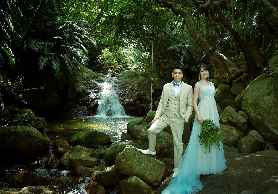 石垣島フォトウェディング 荒川の滝 挙式前撮影
