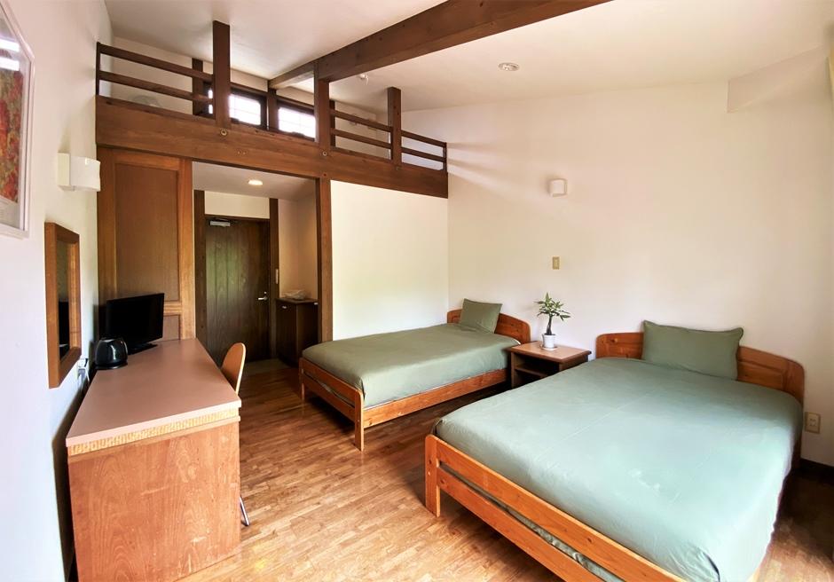 ペンション・ココ/洋室は最大3名まで利用可能
