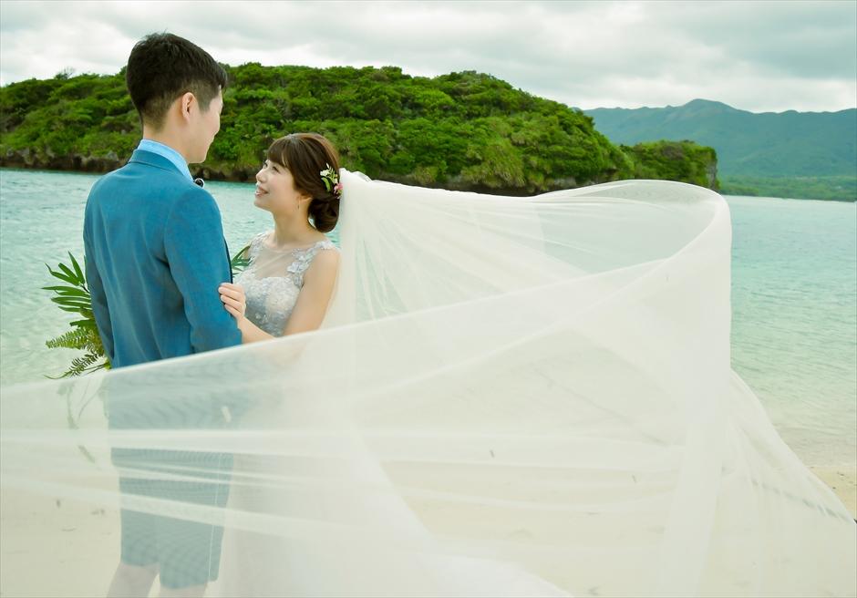 川平ビーチ 挙式前撮影 フォトウェディング