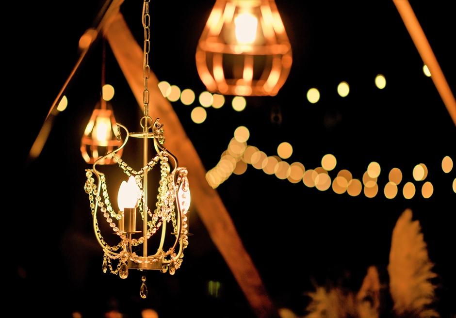 披露宴シャンデリア カノン石垣島ウェディング・結婚式 装飾・デコレーション