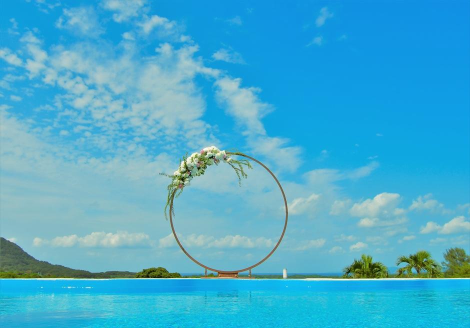 サークルアーチ挙式 カノン石垣島ウェディング・結婚式 装飾・デコレーション